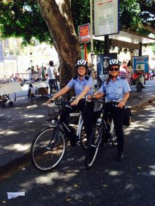 La Polizia municipale va in bicicletta