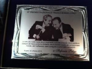 Premio Paolo Borsellino a Stefania Petyx
