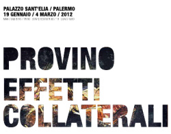 """Salvatore Provino - """"Provino - Effetti collaterali"""""""