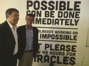 Renzi ha visitato Mosaicoon