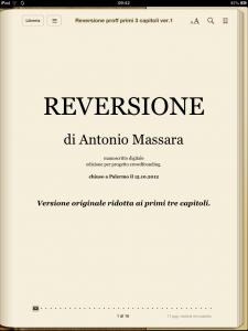 """Antonio Massara - """"Reversione"""""""