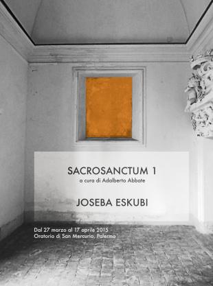 """Sacrosanctum #1"" di Joseba Eskubi all'Oratorio di San Mercurio"