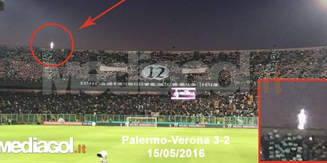 """La """"Santuzza"""" alla partita del Palermo? Un'immagine fa discutere"""
