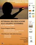"""""""Settimana dell'educazione allo sviluppo sostenibile"""""""
