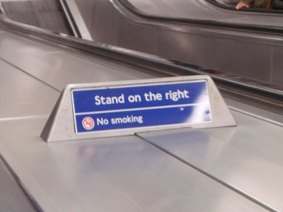 «Stand on the right""