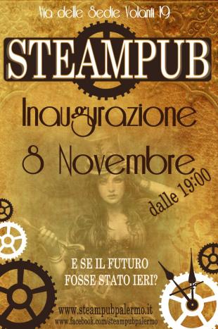 Inaugurato lo Steampub, un pub steampunk a Palermo