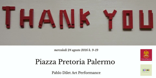 """Thank You"", l'installazione di Pablo Dilet a piazza Pretoria"
