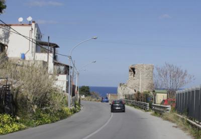 Verso l'Addaura (Torre del Rotolo), prima e dopo