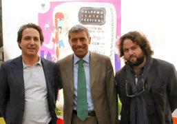 Sandro Tranchina, Diego Cammarata e Alfio Scuderi alla presentazione di Palermo Teatro Festival