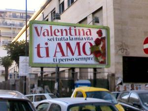«Valentina ti amo»