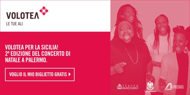 """PROMO Volotea raggiunge 1 milione di passeggeri a Palermo e concerto """"Volotea per la Sicilia"""""""