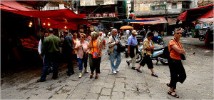 """In Palermo, Life Vibrates in a Fading Market"""