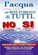 Manifestazione a Palermo per la per la Giornata nazionale per la moratoria sull'acqua