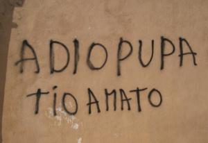 «Adio Pupa tio amato»