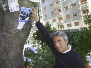 Diego Cammarata all'albero Falcone