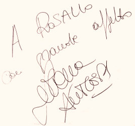 «A Rosalio con grande affetto». Serena Autieri