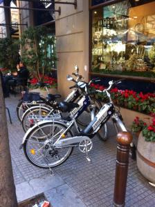 Bici elettriche in via Principe di Belmonte