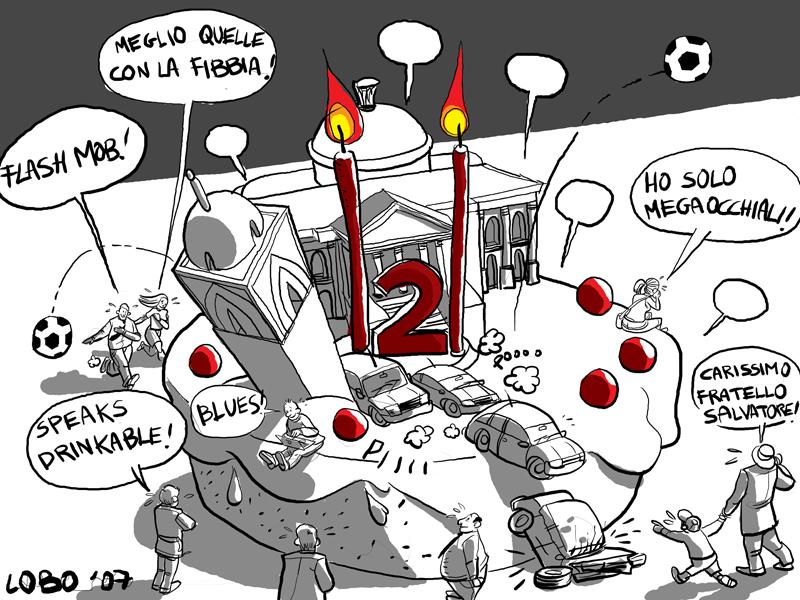 Vignetta e video dal secondo compleanno « Palermo blog – Rosalio