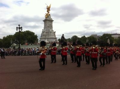 La banda al cambio della guardia a Buckingham Palace