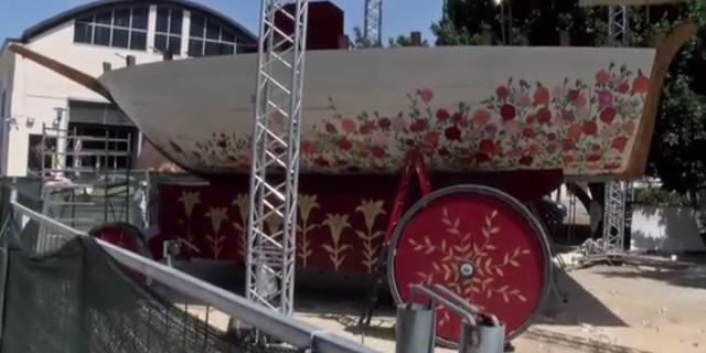 """Il carro del 394esimo """"Festino"""" di Santa Rosalia"""