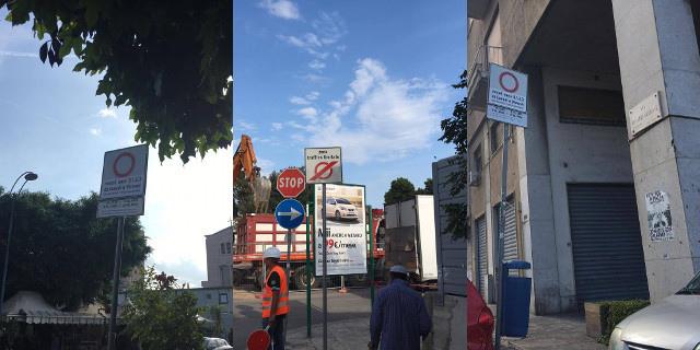 """Quei cartelli """"misteriosi"""" sulle vie che finiscono in via Crispi"""