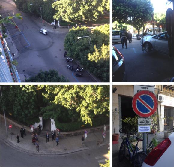Piazza Sant'Oliva: giorno di ferie ieri per i posteggiatori abusivi
