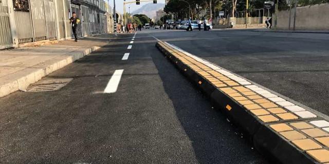 Flop delle piste ciclabili a Palermo, quella di viale del Fante va rimossa
