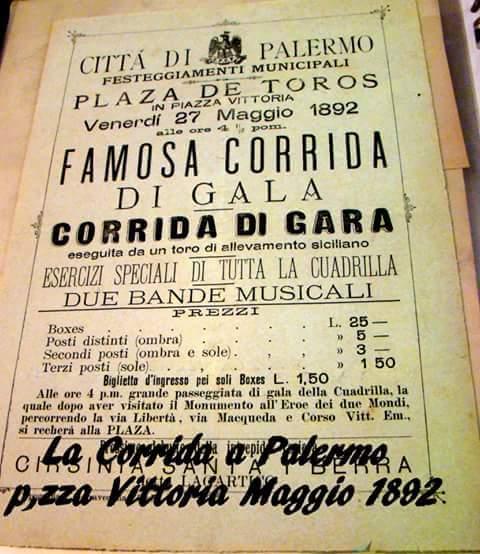 Quando a Palermo c'era la corrida