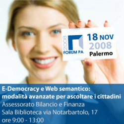 """""""e-Democracy e Web semantico: modalità avanzate per ascoltare i cittadini"""""""