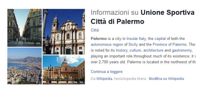 Sei Unione Sportiva Città di Palermo per chi pensa tu sia solo un cannolo