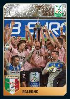 Una figurina speciale Panini per il Palermo primo in Serie B