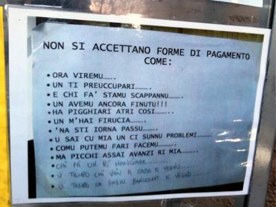 Forme di pagamento accettate a Palermo...