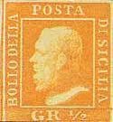 Il primo francobollo del Regno di Sicilia
