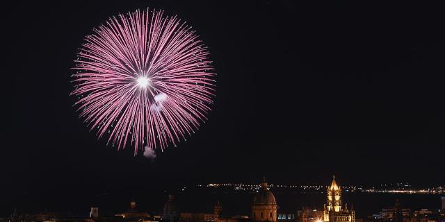 """Il fuoco d'artificio del """"Festino"""" 2020"""