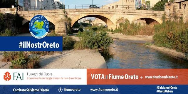 """Ultimo giorno per votare il fiume Oreto tra """"I Luoghi del Cuore"""" del FAI"""