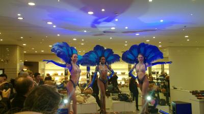 Inaugurazione de la Rinascente a Palermo - le ballerine da Parigi