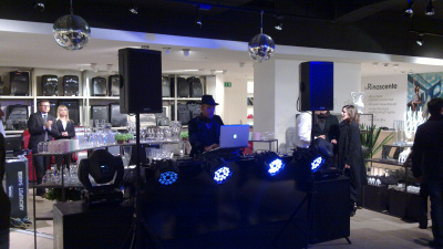 Inaugurazione de la Rinascente a Palermo - dj Coleman