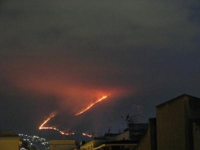 Domato dopo tre giorni incendio doloso a Monte Cuccio
