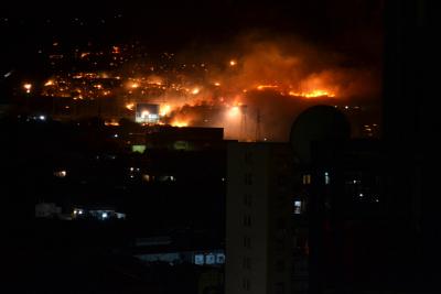 Incendio al Monte Grifone