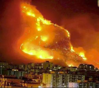 Vento caldo, incendi e disagi in città