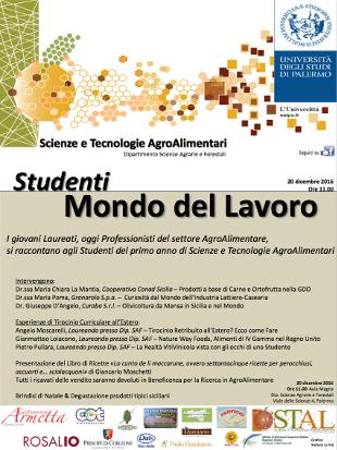 Scienze e Tecnologie AgroAlimentari, i laureati incontrano gli studenti