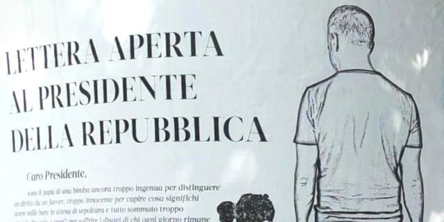 Papà palermitano scrive al presidente della Repubblica e compra spazi pubblicitari