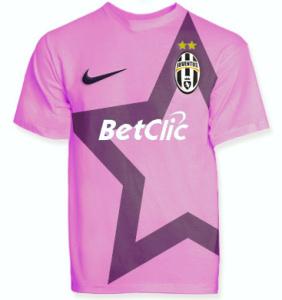 Maglia della Juventus rosanero