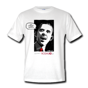 Acquista adesso la maglietta con Obama: «Viva Palermo e Santa Rosalia!»