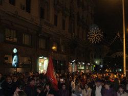 Manifestazione per le dimissioni di Cuffaro a Palermo