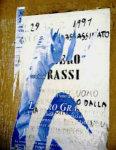 Il manifesto di Libero Grassi sfregiato