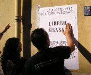 Il manifesto di Libero Grassi ripristinato
