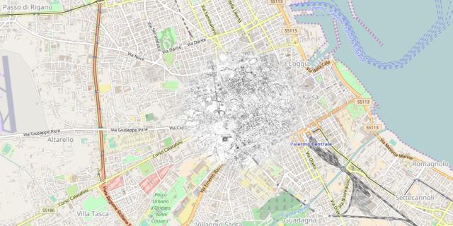 Online la mappa di Palermo com'era nel 1935, 1956 e 1987
