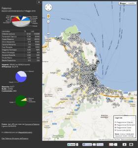 La mappa interattiva di Sky TG24 sul voto a Palermo