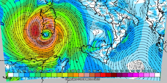 Si allontana l'ipotesi del medicane, il ciclone mediterraneo al largo della Sicilia